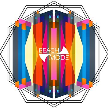 Geometric abstract colorful pattern beach fashion by masatomio