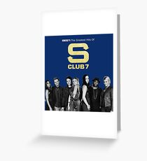 S club 7 Best Greatest Hits Design Products Greeting Card