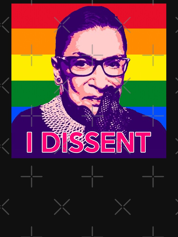 Notorious RBG - Gay Pride Flag by Thelittlelord