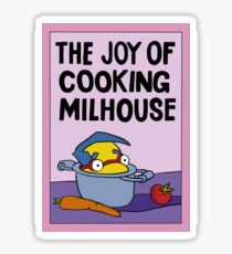 The joy of cooking Milhouse Sticker
