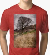 Moody scenery in Central Scotland Tri-blend T-Shirt