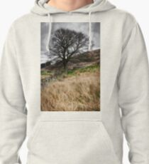 Moody scenery in Central Scotland Pullover Hoodie