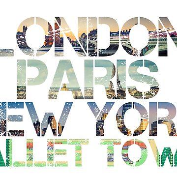 London. Paris. New York. Pallet Town. by MoPaws
