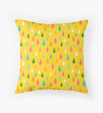 Rainbow Rain Yellow Floor Pillow