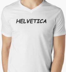 ~Helvetica Comic Sans typographic~  Men's V-Neck T-Shirt