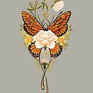 «Peonías de mariposa del tatuaje» de Ruta Dumalakaite