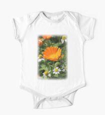 Bright Summer Wildflowers One Piece - Short Sleeve