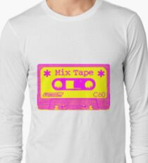 Psychedelic Mix Tape - Magenta and Yellow Long Sleeve T-Shirt