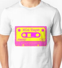 Psychedelic Mix Tape - Magenta and Yellow Unisex T-Shirt