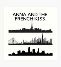 Anna and the french kiss Art Print