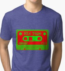 Psychedelic Mix Tape - Red and Green Tri-blend T-Shirt