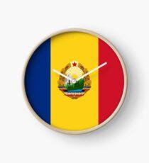 Flagge der Sozialistischen Republik Rumänien Uhr