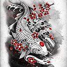 White koi by marineloup-art
