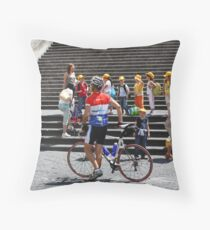 Racer and Kids Throw Pillow