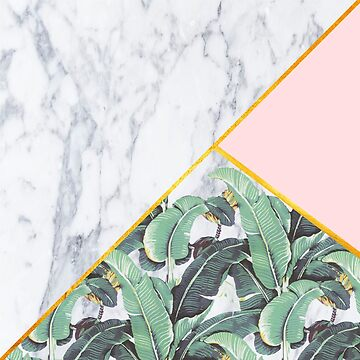 Marble/Banana Leaves/Pink by monpetitbambino
