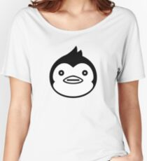 Mawaru Penguindrum - B/W Penguin Women's Relaxed Fit T-Shirt
