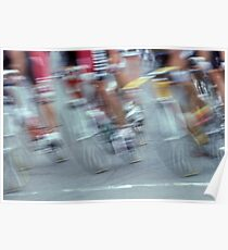 Digital Art Image of Men's Cycling Competition Poster