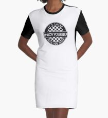 Enjoy Yourself It's Later Than You Think [Round Type 2] Graphic T-Shirt Dress