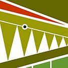 Crocodile - Digital Cubism by iconymous