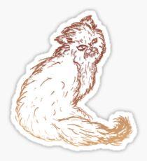 Persian Cat Sketch 2 Sticker