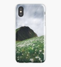 Thousands of narcissus on Golica, Slovenia iPhone Case