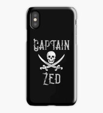 Personalized Captain Zed Shirt Vintage Pirates Shirt Personal Name Pirate TShirt iPhone Case