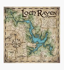 Loch Raven Reservoir Hiking Trail Map - Antique Cartography Photographic Print