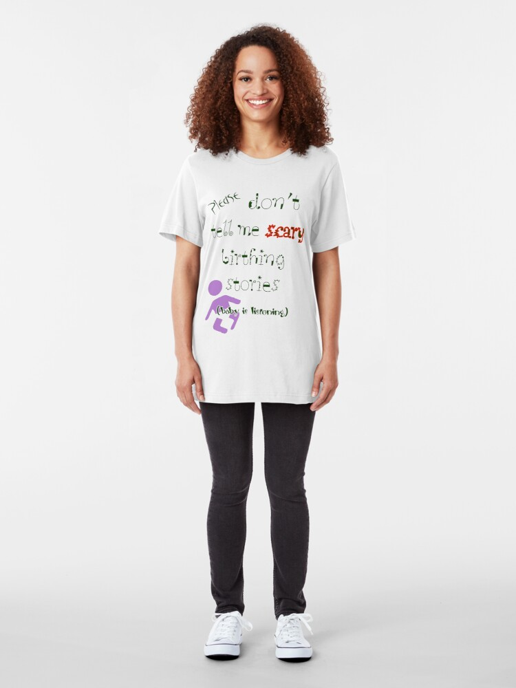 Alternate view of Baby Is Listening! Slim Fit T-Shirt