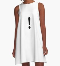 Exclamation A-Line Dress