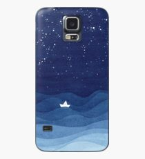 blue ocean waves, sailboat ocean stars Case/Skin for Samsung Galaxy