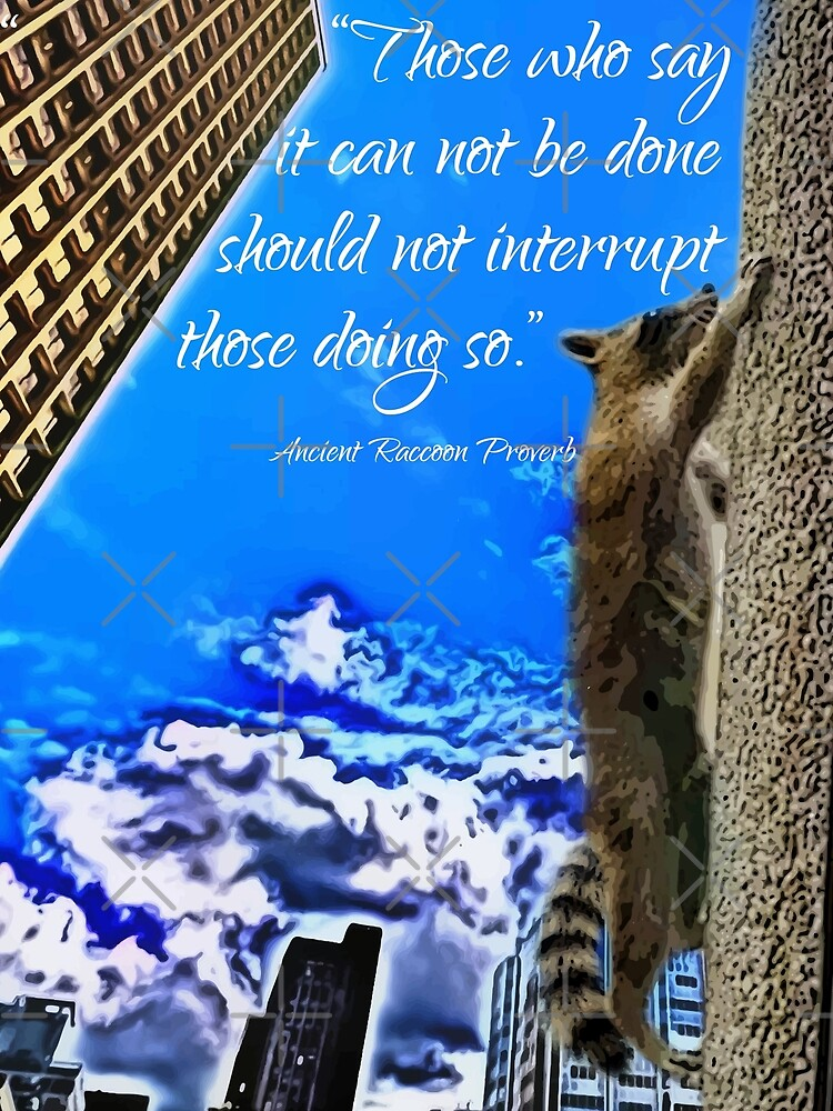 Ancient Raccoon Proverb by IconicTee