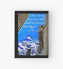 Ancient Raccoon Proverb Hardcover Journal