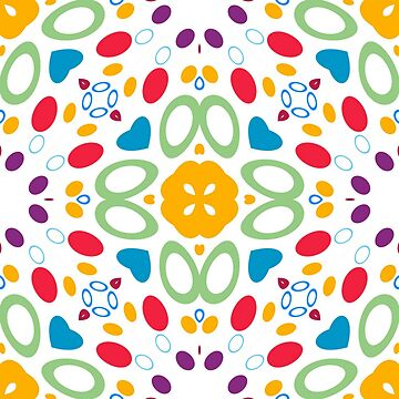 light abstract decorative atmosphere seamless colorful repeat pattern by Abrahamjrnd
