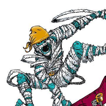 Skateboard Mummy by Kiteboy