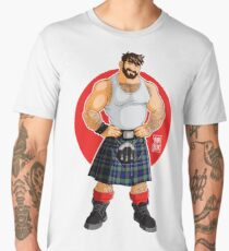 ADAM LIKES KILTS Men's Premium T-Shirt