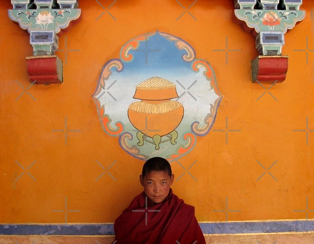 Young Monk in Tibet by Keith Molloy