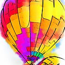 The Yellow And Red Balloon by KirtTisdale