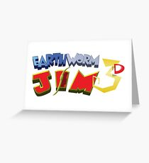 Earthworm Jim 3D Greeting Card