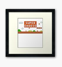 Super Daddio Tee Shirt, Super Daddio Funny Father's Day Funny Gift For Dad Tee Shirt Framed Print