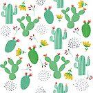 Flowering cactus desert bloom by artonwear