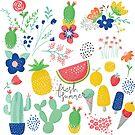 Fresh Summer Desert Flowers Bloom by artonwear