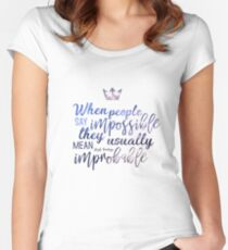 Grisha Quote Fitted Scoop T-Shirt