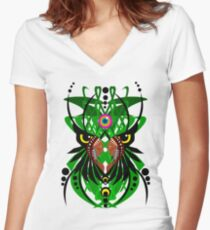 Ayahuasca vision psychedelic shamanism 2 Women's Fitted V-Neck T-Shirt