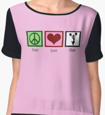 Peace Love Cheerleader Chiffon Top
