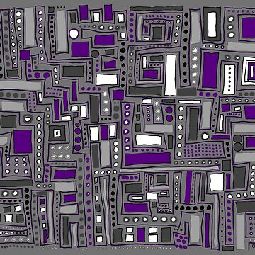 Purple and Gray Maze by CTWuellner