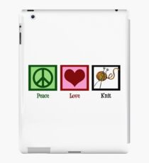 Peace Love Knit Cute Knitting iPad Case/Skin