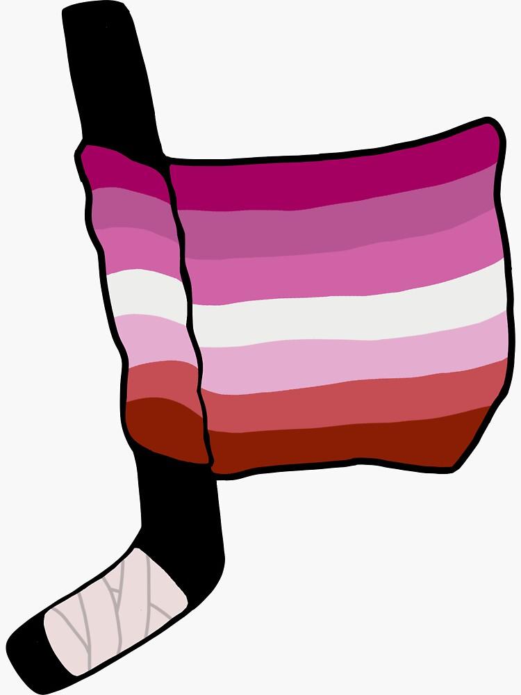 bandera lesbiana del orgullo del hockey de charliecross