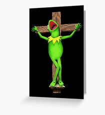 It's Not Easy Being Crucified Greeting Card