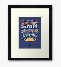 Someone is Out There Framed Print