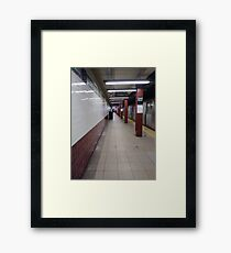 Metro station, #MetroStation, Manhattan, #Manhattan, New York, #NewYork, NYC, #NYC, New York City, #NewYorkCity Framed Print